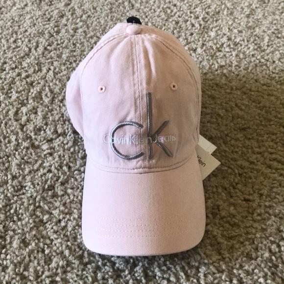 7609c375d6b Calvin Klein 100% cotton classic Pink hat wit logo